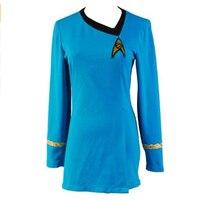 Star Cosplay Trek TNG Female Duty Blue Dress Uniform Adult Women Suit Halloween Carnival Costume