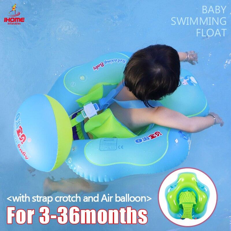 Anillo de natación inflable flotante Bebé/Niños Accesorios de piscina círculo baño inflable doble balsa anillos Dropshipping