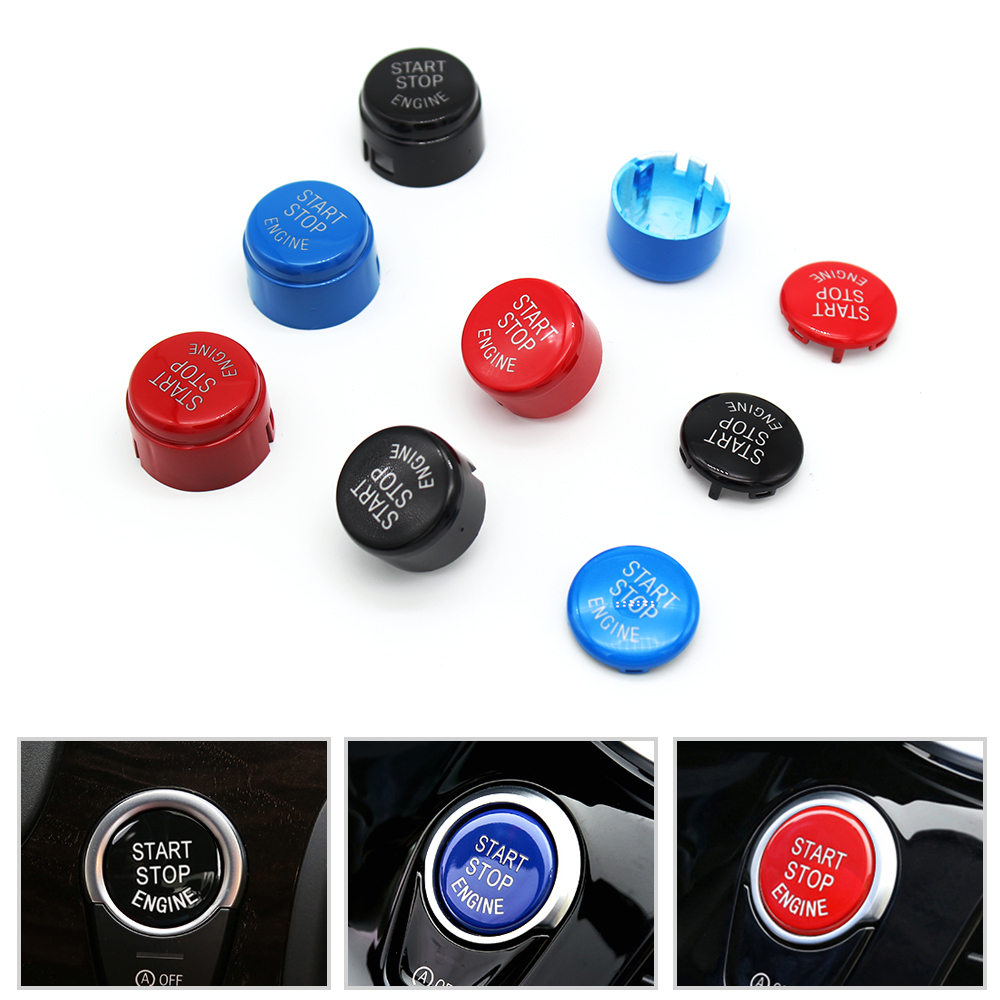 Car Engine Start Stop Switch Button Replace Cover For BMW 1 3 5 7 F10 F25 F15 F25 F30 F48 E60 E70 E71 E90 E92 E93 X1 X3 X4 X5 X6