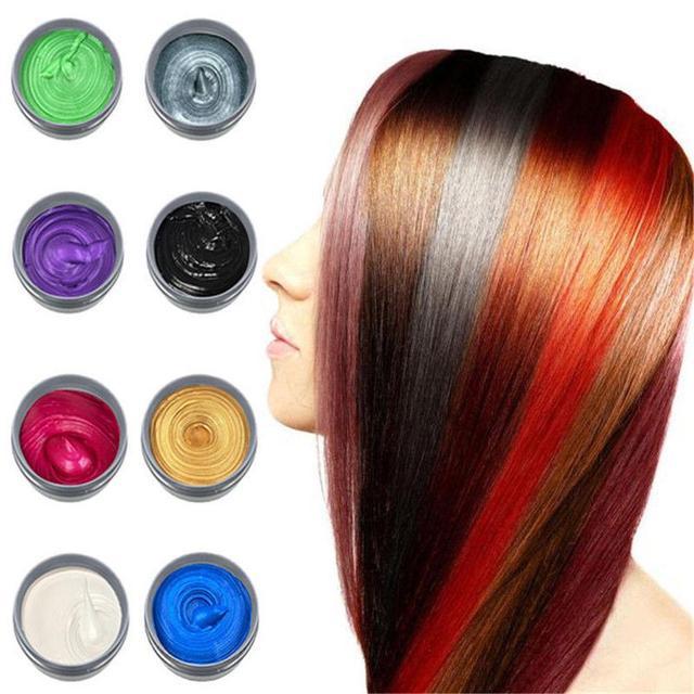 יוניסקס אופנה זמני שיער צבע שעוות בוץ צבע קרם רעיל DIY סטיילינג שיער קרם המפלגה עפרונות