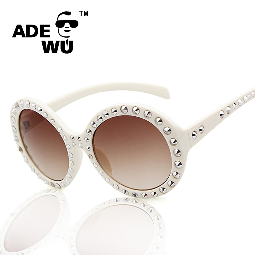 adewu metal steam punk sunglasses women elegant oversize white frame glasses for ladies luxury brand gafas