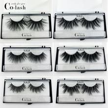 Colash NEW 25mm Long 3D mink lashes extra length eyelashes super dramatic volumn strip thick false eyelash