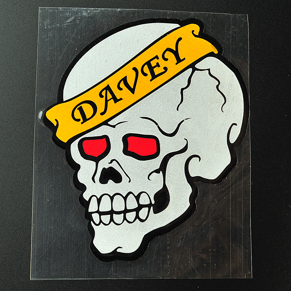 1 pcs Skull head Motorcycle moto Bike Car tail Stickers car Styling Decal Sticker Reflective stickers