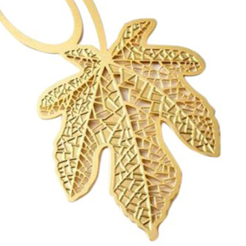 Gold Maple Leaf Bookmark Sheet Metal Gift Souvenir Book Reading