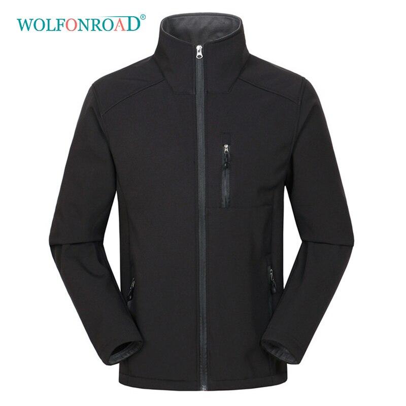 WOLFONROAD New Softshell Jacket Men Big Size Jackets Black Jacket Men Hoodie Hiking Waterproof Jacket Windproof
