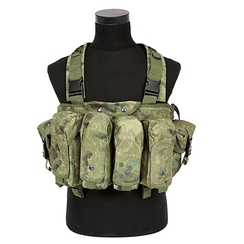 Цена за Открытый АК 47 Журнал Перевозчик Боевой Военный Камуфляж Тактический Жилет Airsoft Ammo Грудь Рог