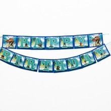 1pc/set Moana Party Pennant Bunting Birthday Flag Banners Kids Cartoon Supplies Decoration flag