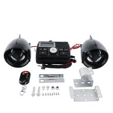 Manillar de La Motocicleta Bar caliente Sistema de Radio FM Amplificador de Audio de Altavoces de Sonido MP3 Cráneo Negro antirrobo