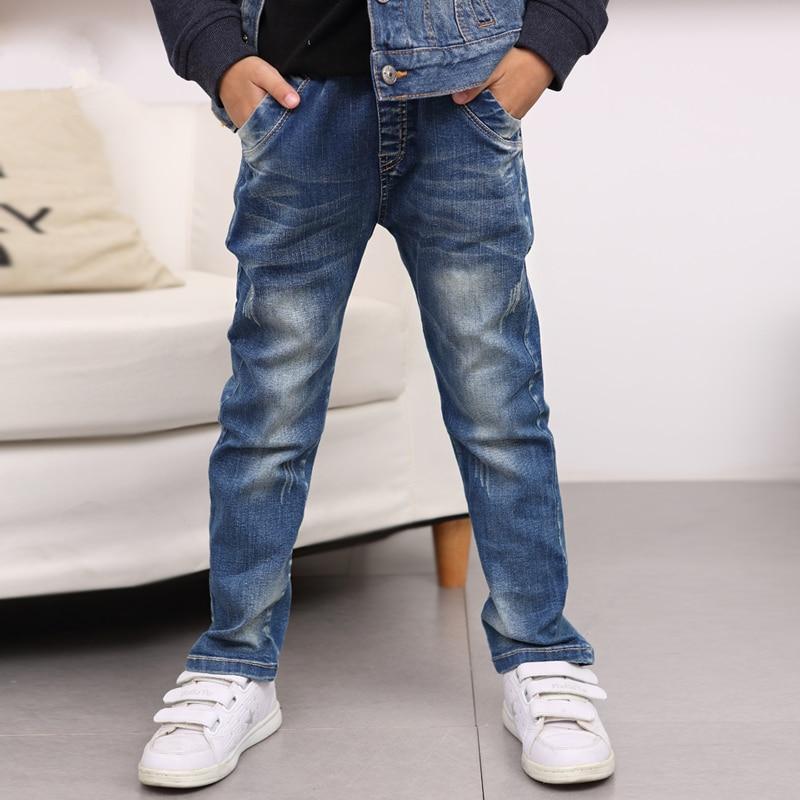 48b91d9c4b0b1 AZEL 2017 Fashion Cotton Boys Jeans Children s Blue Long Denim Pants  Children Trousers Fashion Kids Clothes For 7 9 11 12 13 T-in Jeans from  Mother   Kids