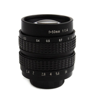 1pcs 50mm F1.4 Digital Micro Single Camera Lens Movie Lens For SONY NEX3 NEX6 NEX7 A6500 A6300 A6000 A5000 C Mount Movie Lens