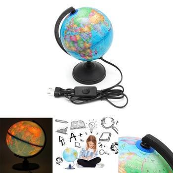 HA CONDOTTO LA Luce Terrestre Globo Del Mondo Earth Map Geografia Educazione Giocattolo di Carta Con Girante Del Basamento Decorazione Della Casa Ufficio Ornamento
