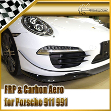 Car-styling For Porsche 911 991 SP Style Carbon Fiber Front Bumper Canard 2pcs