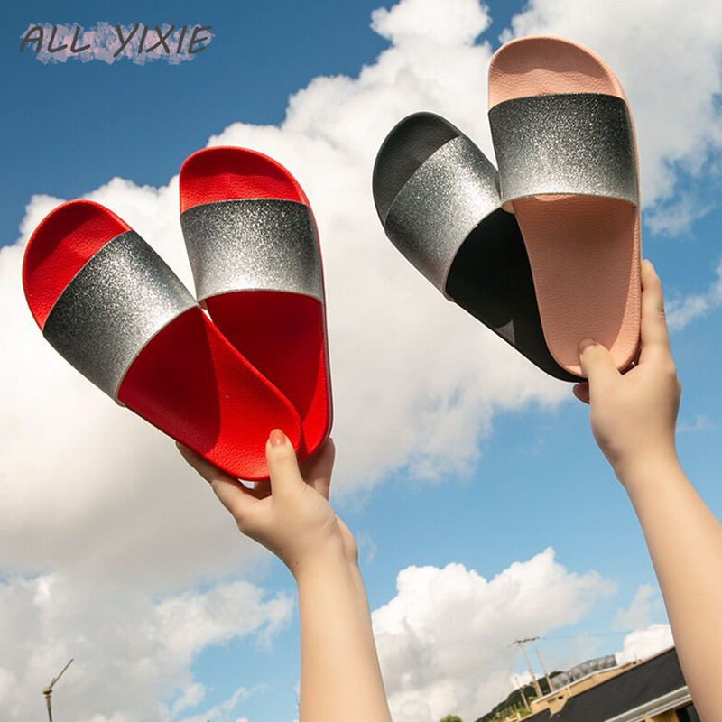 ALL YIXIE2019 Summer New Fashion Womens Shoes Slippers Casual Wild Sequins Flat Slippers Beach Womens Sandals and SlippersALL YIXIE2019 Summer New Fashion Womens Shoes Slippers Casual Wild Sequins Flat Slippers Beach Womens Sandals and Slippers