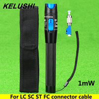 KELUSHI 2016 Nieuwe FTTH optic Metalen glasvezel laser tester LC/FC/SC/ST Adapter fiber optica kabel visual fault locator 1 MW CATV