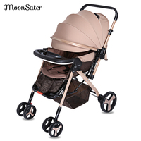 New Stroller Travel Baby Pram Trolley 3 In 1 Carriage Buggy Pushchair Newborn Babies Trolley With Brake System Universal Casters