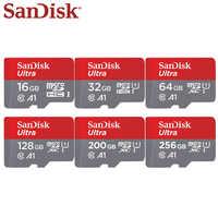 100% Original Sandisk Ultra Speicher Karte 16 gb 32 gb 64 gb 128 gb 200 gb 256 gb Geschwindigkeit 100 MB/s Micro SD Karte TF Karte Für Telefon C10