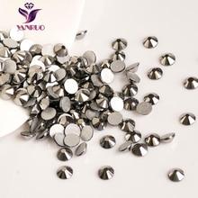2058NoHF Jet Hematite All Sizes Non Hotfix Rhinestones Flatback Crystal Stones Rhinestone Beads For Craft