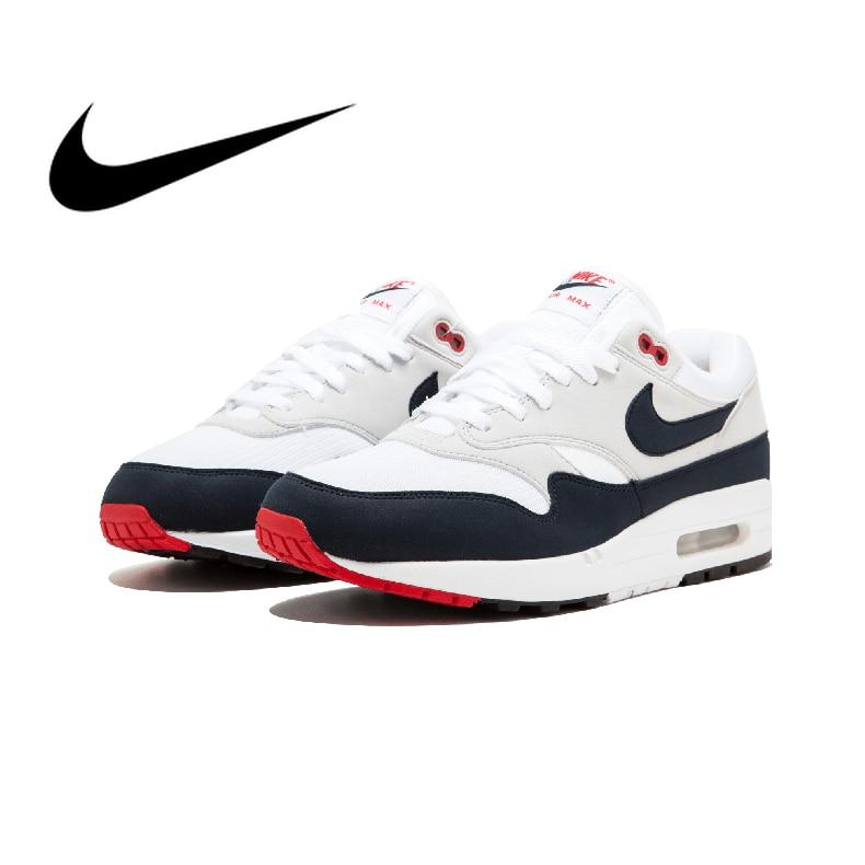 Original authentique Nike AIR MAX 1st anniversaire chaussures de course pour hommes chaussures de sport de plein AIR confortables et respirantes 908375-104