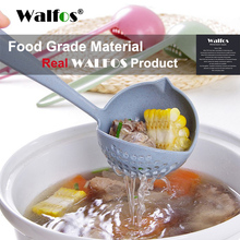 WALFOS 2 in 1 Soup Spoon Long Handle Creative Strainer Cooking Tools