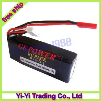 2x GE Power 11.1V 900mAH 15C lipo for Esky big lama helicopter+free shipping