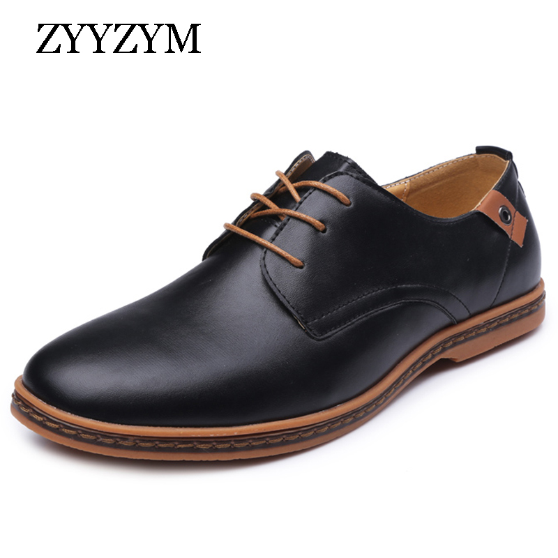 Spring Autumn Men Shoes Hot Sales Fashion trend Casual Breathable business Flats Round Toe Retro Man Leather Shoes large size spring korean men flats shoes british fashion trend of small leather flat shoes tide dress shoes hot sale b1198