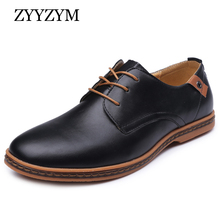 Spring Autumn Men Shoes Hot Sales Fashion trend Casual Breathable business Flats Round Toe Retro Man Leather Shoes large size