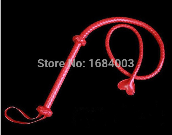 <font><b>135</b></font> cm Long Red PU Role Paly Whip,Fetish <font><b>Sex</b></font> Toys,<font><b>Sex</b></font> Games Whip For Lover image