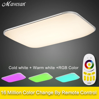 NEW 2015 Modern 36W Led Ceiling Light RGBW Smart LED Modern Ceiling Lights With RF Remote