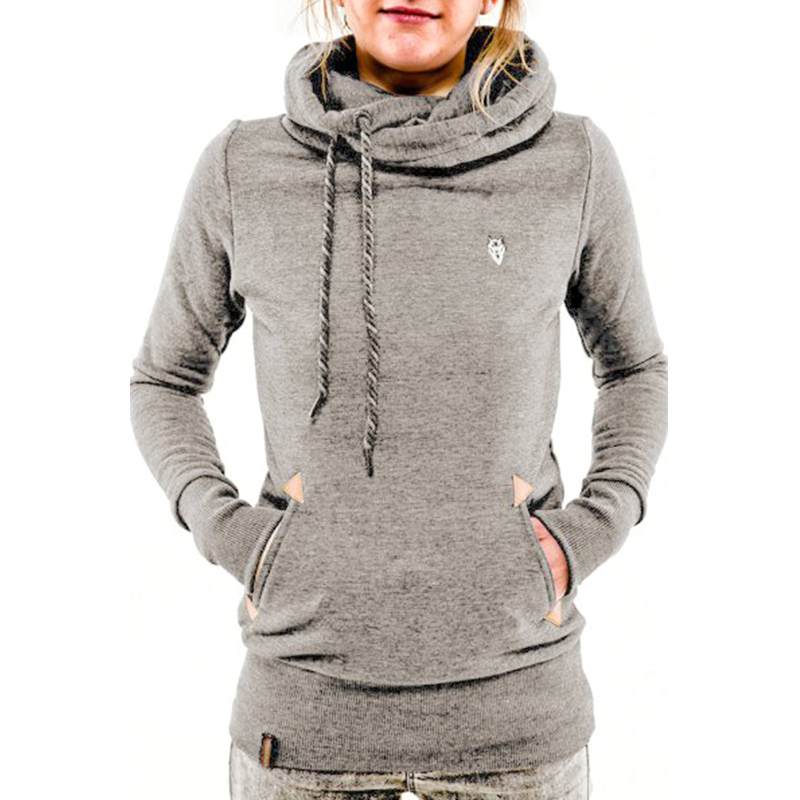 Cowl Neck Womens Hoodie - Hardon Clothes