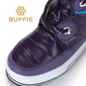 Image 5 - Fioletowe paski wysokie buty moda pani śnieg buty antypoślizgowe jakości buty zimowe buty dziewczęce uwalnia statek pluszowa futrzana podszewka gorącym stylu