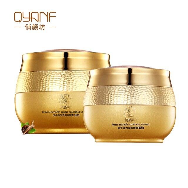 Qyanf улитка увлажняющий крем для лица крем для глаз для ухода за кожей лица Whitenign лифт укрепляющий лечения акне увлажняющий ночной крем
