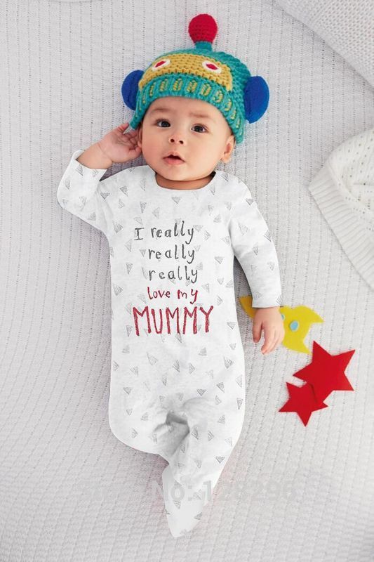 Brand New Boys /& Girls /'I Really Love My Daddy//Mummy/' Romper Suit Clothing Baby