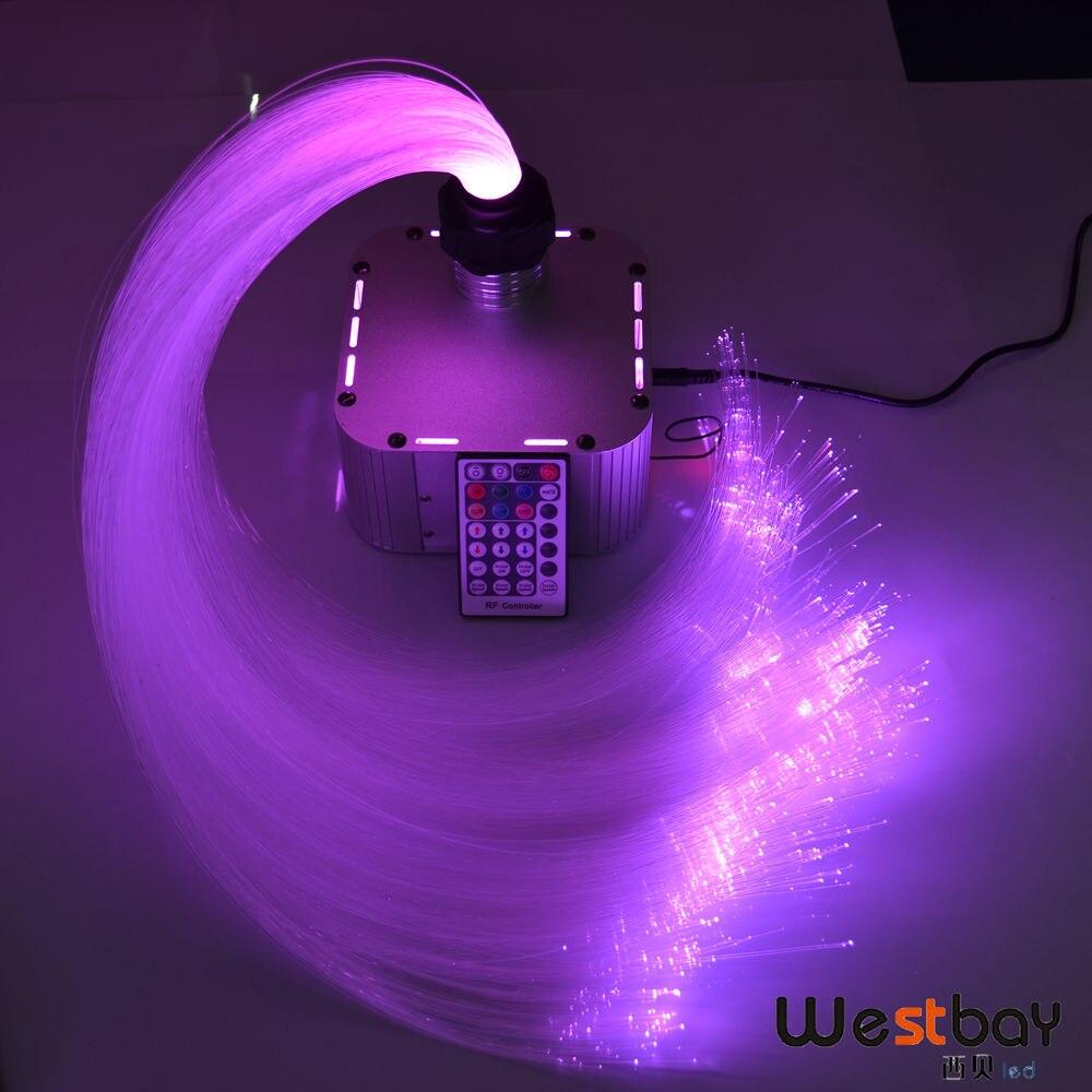 32 w RGB Twinkle 4-velocidade kit teto estrela De Fibra Óptica LEVOU luz 800 pcs 4 m 0.75mm + 28key RF remoto