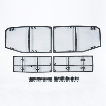 Wtfs Rvs ABS Insect Grille Mesh Grill Inserts Insect Netto Insect-Proof Netto voor Volvo XC60 2018 [QP1140]
