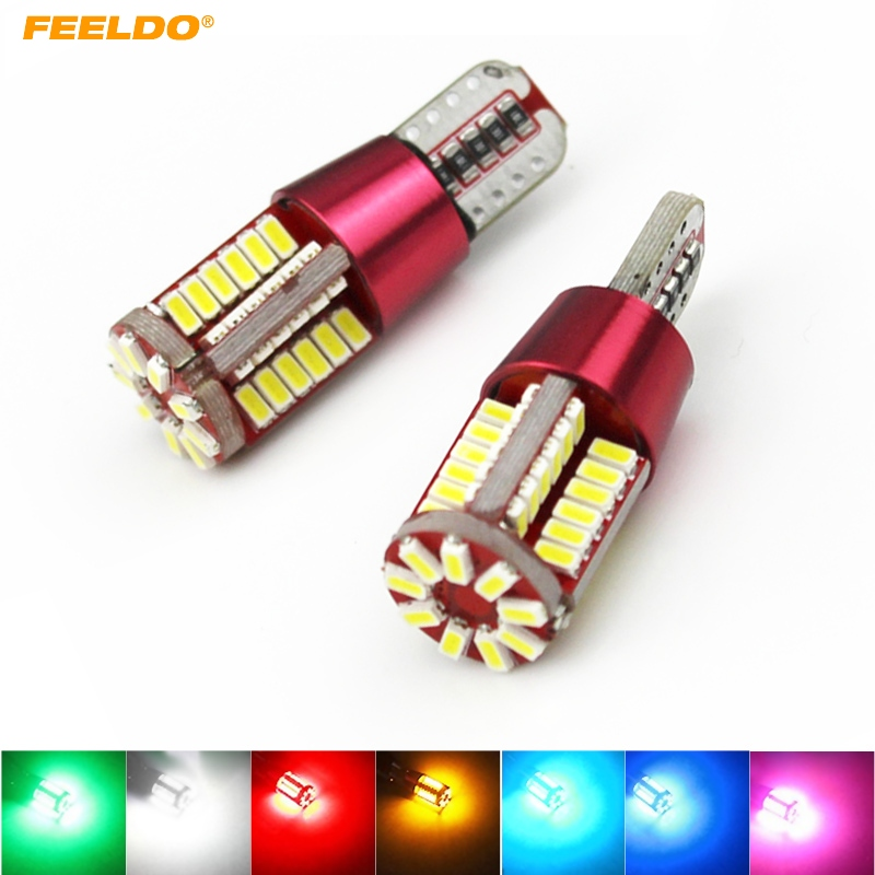 10Pcs White T10 194 3014SMD 57Leds 336LM Canbus Error Free Car <font><b>LED</b></font> Light <font><b>Bulb</b></font> DC12V #FD-5299
