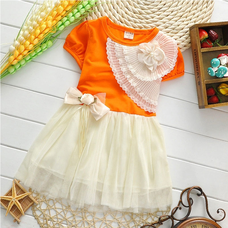 5bf89faa6506f US $9.99 |2017 summer girl baby clothes brand short sleeved dress for  infant baby's girls clothing cute tutu princess party dresses dress-in  Dresses ...