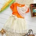 2017 verano niña ropa de bebé marca dress de manga corta para bebés ropa de las muchachas del bebé lindo del tutú de princesa party vestidos dress