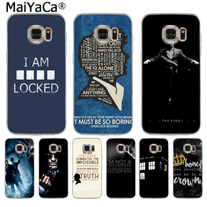 MaiYaCa Sherlock Holmes New Arrival Fashion phone case cover for Samsung S3 S4 S5 S6 S6edge S6plus S7 S7edge S8 S8plus