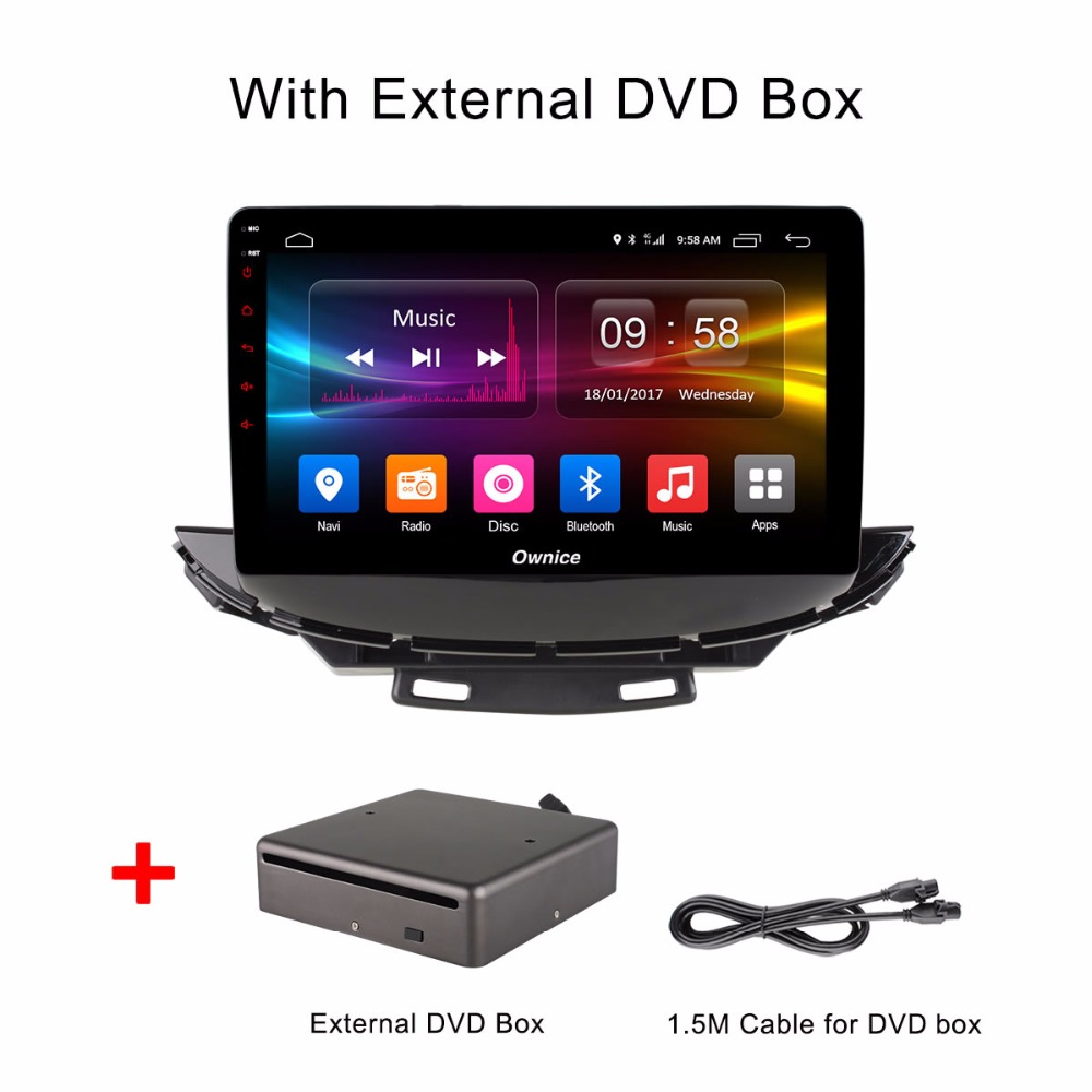 Android 6.0 Octa Core 2GB RAM+32GB ROM 10.1 inch Car DVD Player For Chevrolet Trax 2017 GPS Navi Radio 4G WIFI TPMs With DVD box image