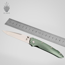 Kizer tactical knife edc flipper Ki4419A3 s35vn blade aluminum handle camping tools