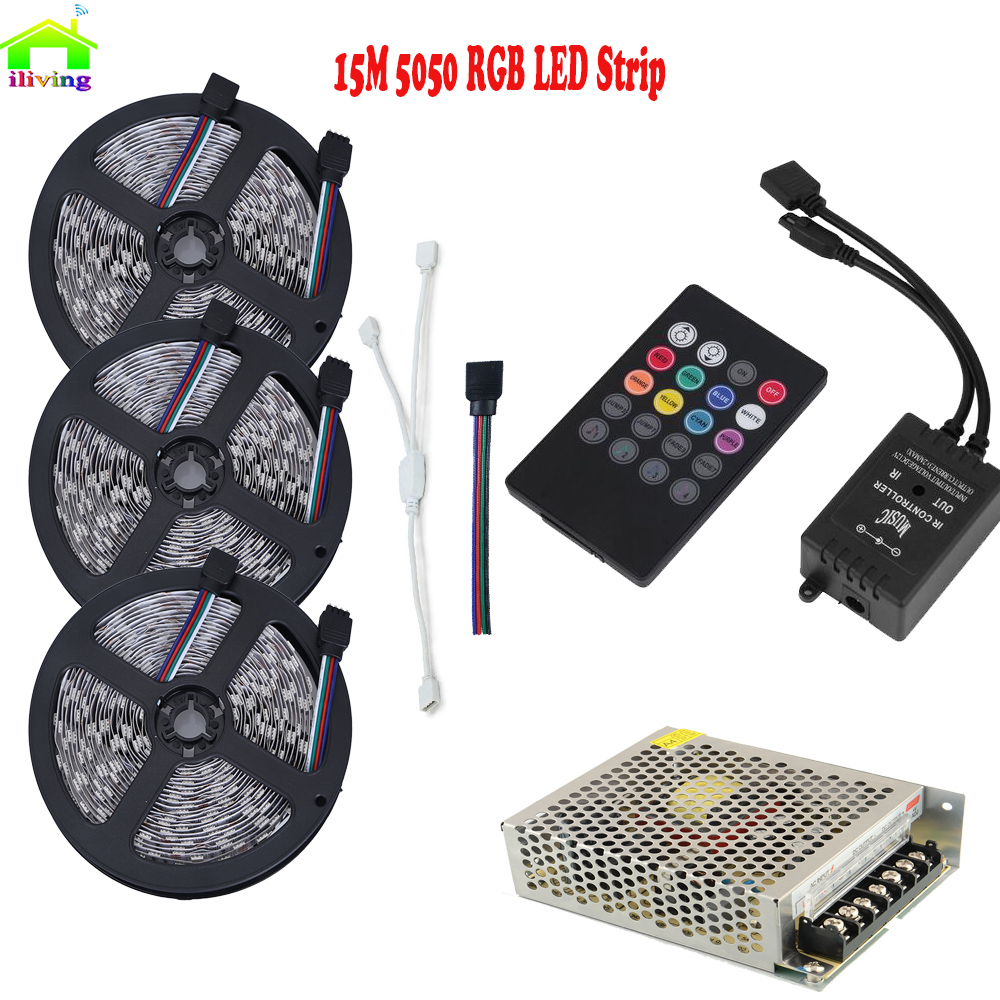 Music Activated Led Strip Full Kit 5050 Rgb Multi Color