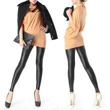 Women Girl's Sexy Black Faux PU Leather Leggings Women Skinny Pencil Pants Trousers Sales