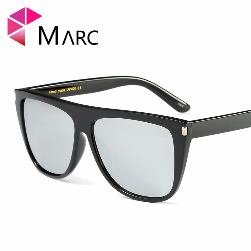 MARC UV400 NEW WOMEN sunglasses Shield Gradient Plastic oculos Fashion Mirror Goggle Big Wrap luxury oversize Trend Sun glasses in Women 39 s Sunglasses from Apparel Accessories