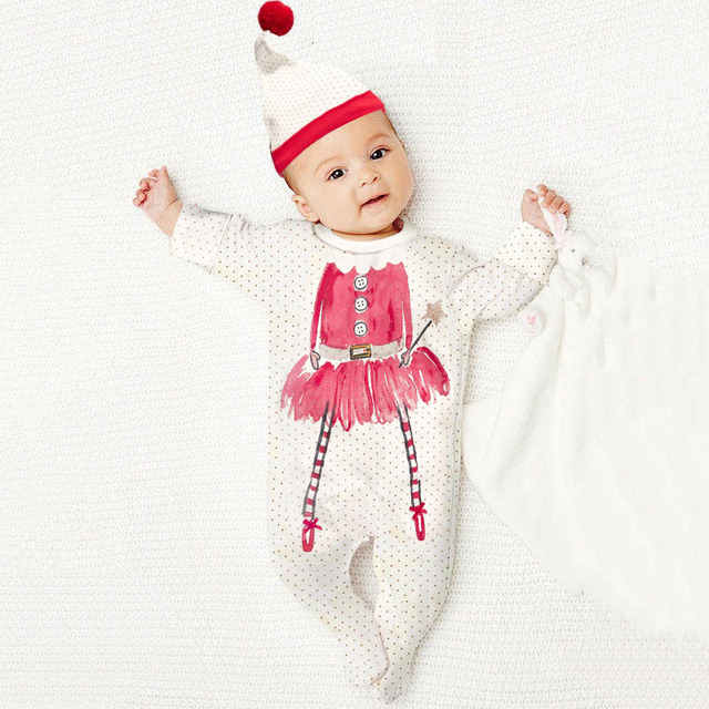 christmas newborn baby rompers santa claus brand autumn winter baby boy clothes red long sleeve polka