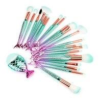 Mermaid Makeup Brushes Set 22PCS Full Professional Make Up Kwasten Kit A801 22