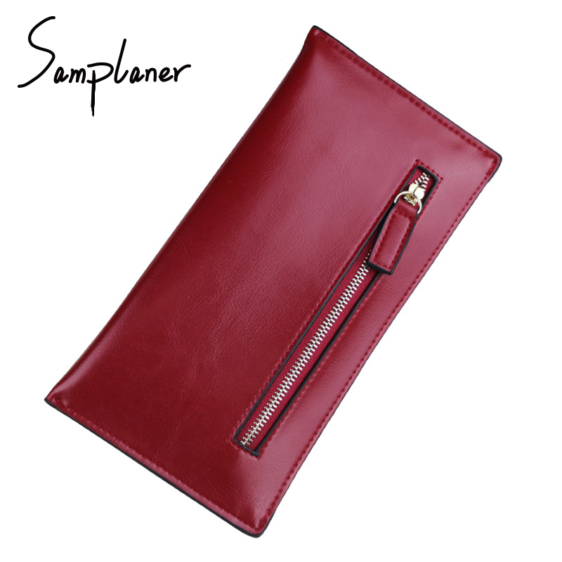 цены Casual Zipper Wallets Women 2018 Clutch Bags Genuine Leather Brand Ladies Long Purse Female Hand Bag Card Holder Wallet carteira