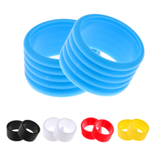 2 Pieces Badminton Tennis Racket Grip Fix Rings Silicone Ring Protector Overgrip 5 Color Options