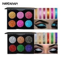 Фотография Handaiyan 6 Colors Eye Shadow Palette Glitter Diamond Shimmering Contour Powder Sexy Makeup Portable Eyeshadow T30