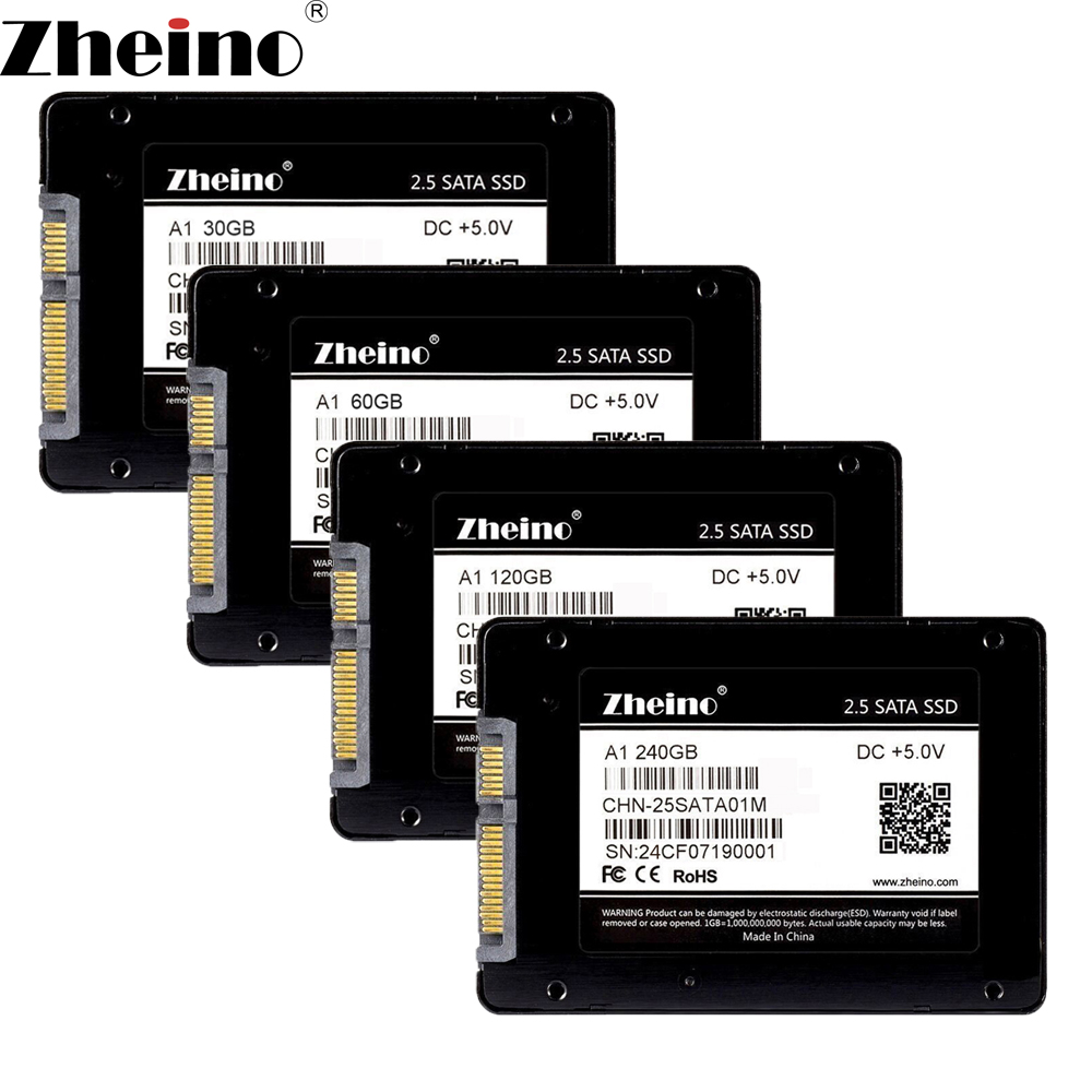 Zheino A1 2.5 inch SATA3 30GB 60GB 120GB 240GB 480GB SSD (2D MLC Flash)SATA 7MM Internal Solid State Drive for PC Laptop Desktop ipod video 30gb 60gb 80gb lcd screen original