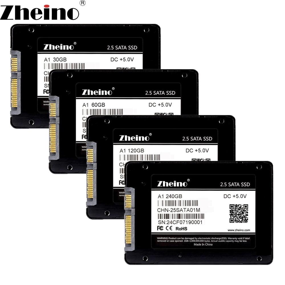 Zheino A1 2.5 inch SATA3 30GB 60GB 120GB 240GB 480GB SSD (2D MLC Flash)SATA 7MM Internal Solid State Drive for PC Laptop Desktop kingston suv400s37 ssd 240gb internal solid state drive 2 5 inch sata iii hdd hard disk hd notebook pc